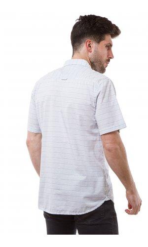 Рубашка лен Jlab+Remix SC04 (Голубой)
