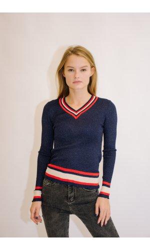 Пуловер Remix W  18031 (Т.Синий)
