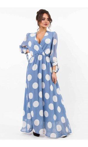 Платье  Lumina L1152 (Голубой)