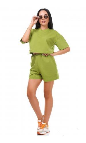 Костюм футболка + шорты Jlab+Remix V1998-100 (Зеленый )