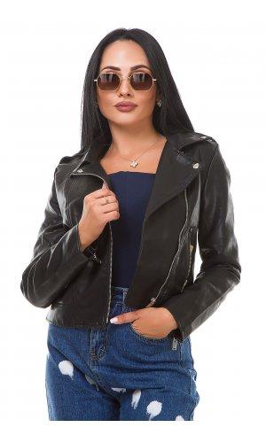 Куртка кожзам AFTF Basic W2048 (Черный )