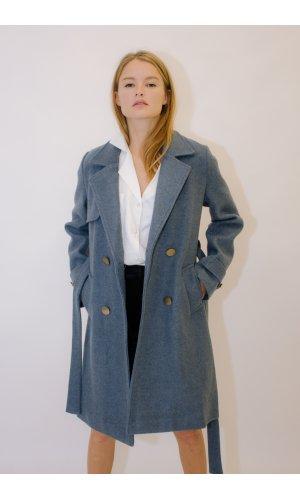 Пальто Qiao 2512 (Синий)