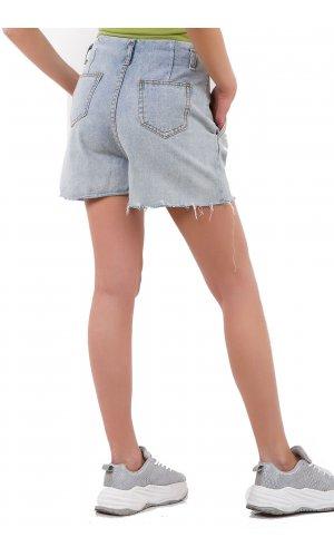 Шорты джинсовые You Mei Shuo 6717 Голубой