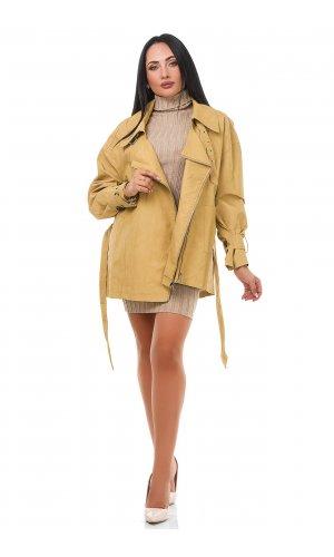 Куртка кожзам Dolly Villa 7322 (Бежевый )