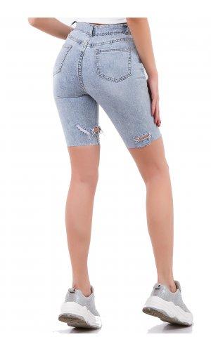 Шорты джинсовые Hong zhu zi 8133 Голубой