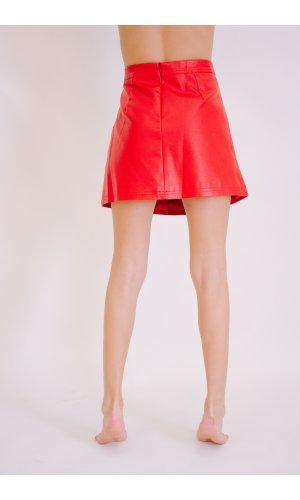 Юбка кожзам Ya Mei 8604 (Красный)