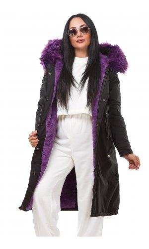 Куртка X.U 911 (Черно-фиолетовый )