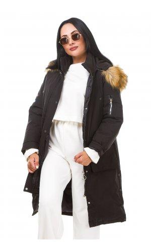 Пальто X.U 915 (Черный )