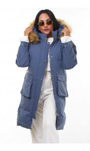 Пальто X.U 915 (Синий )