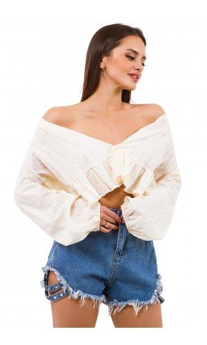 Блуза Дл/рукав Mimosa Beauty 9167 (Молочный)