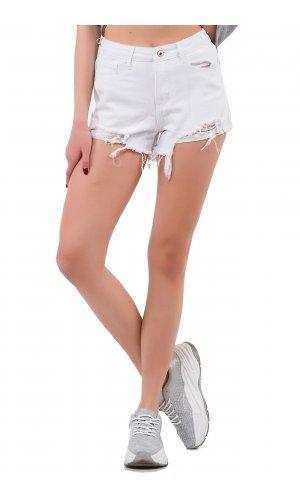 Шорты джинсовые Frendy A63-2 Белый