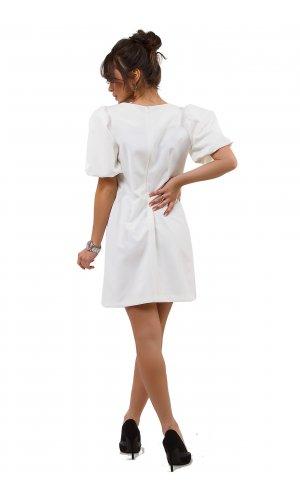 Платье + пояс  ANY DR852  (Белый)