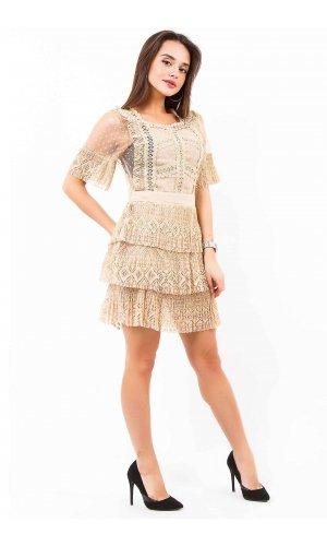 Платье Occult 6119 (Бежевый)