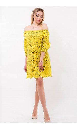 Платье Billi Fashion/More  P880-1 (Горчичный)