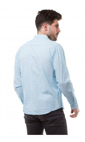 Рубашка L191B (голубой)