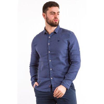 Рубашка лен Дл/рукав X-Ray L209 (Св.Синий)