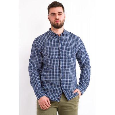Рубашка лен Дл/рукав  Jlab+Remix LA11 (Синий)