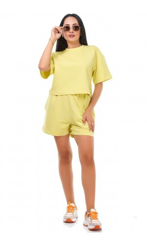 Костюм футболка + шорты Jlab+Remix V1998-100  (Желтый )